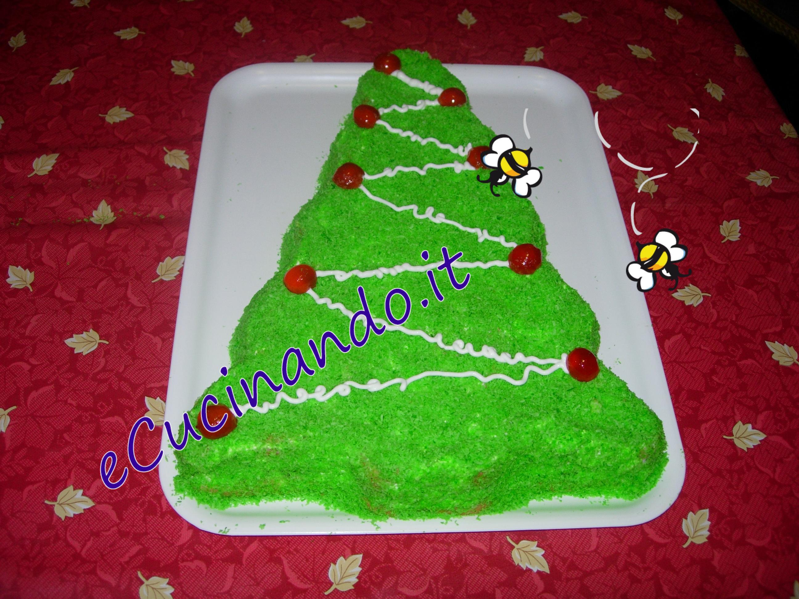 Torte Decorate Per Natale torta albero di natale - ecucinando.it